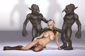 3d elf and trolls in a threesome sex